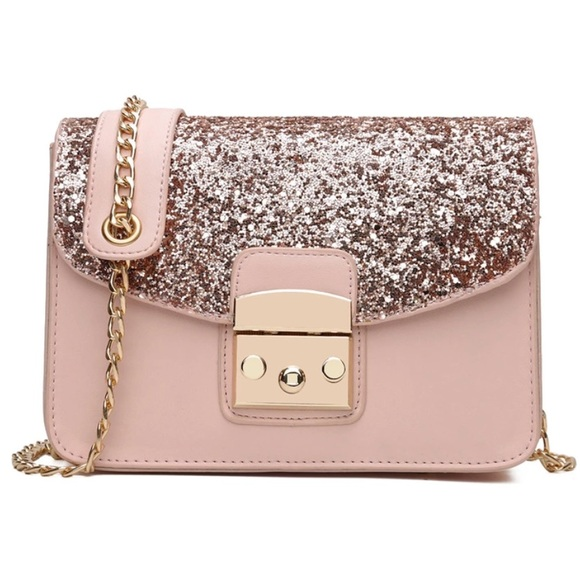 Rose Gold Glitter Crossbody Bag Purse 8cf4adef0
